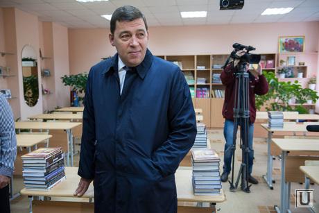 Евгений Куйвашев в школе №175. Екатеринбург, куйвашев евгений