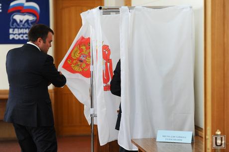 Советский район совет депутатов. Челябинск., кабинка для голосования, место для тайного голосования