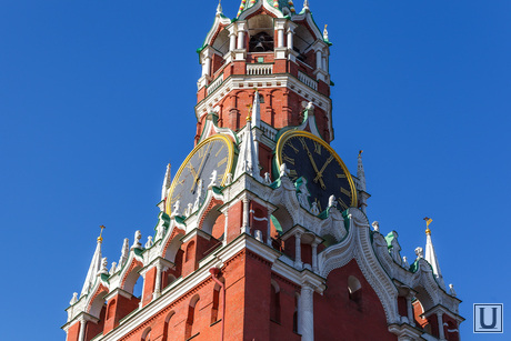Клипарт, часы на башне, москва, кремль