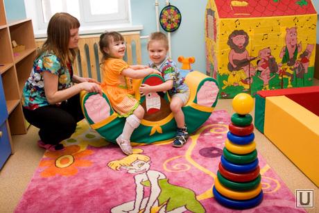 Открытие детского сада Курган, детский сад, малыши, дошколята, воспитатель, игра, пирамидка