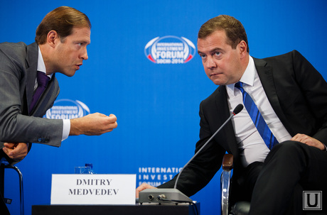 Медведев и ко. Форум Сочи-2014, мантуров денис, медведев дмитрий