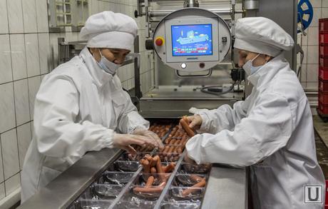 На мясоперерабатывающем предприятии. Магнитогорск, продукты, еда, сосиски, упаковка, мясокомбинат