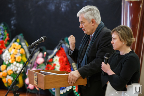 Прощальная церемония и отпевание Николая Васенина. Березовский, баран мишель