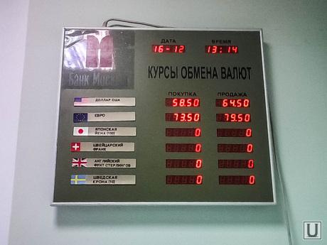 Курс доллара в тюменских банках. Тюмень, курс доллара, обменник