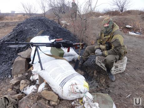 Фотографии с передовой. Украина. ДНР, война, пулеметная точка