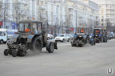 Коммунальная техника. Снегоуборщики. Челябинск., снегоуборочная техника, дорожники