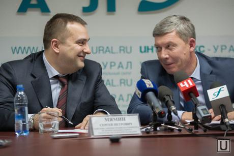 Пресс-конференция по строительству Екатеринбурга. Итоги 2014, мямин сергей, белышев алексей
