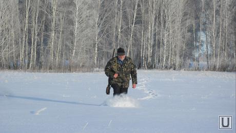 Клипарт. Охота. Челябинск., снег, зима, мороз, охотник