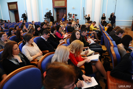 Дубровский отчетная пресс-конференция.Челябинск., пресса, журналисты