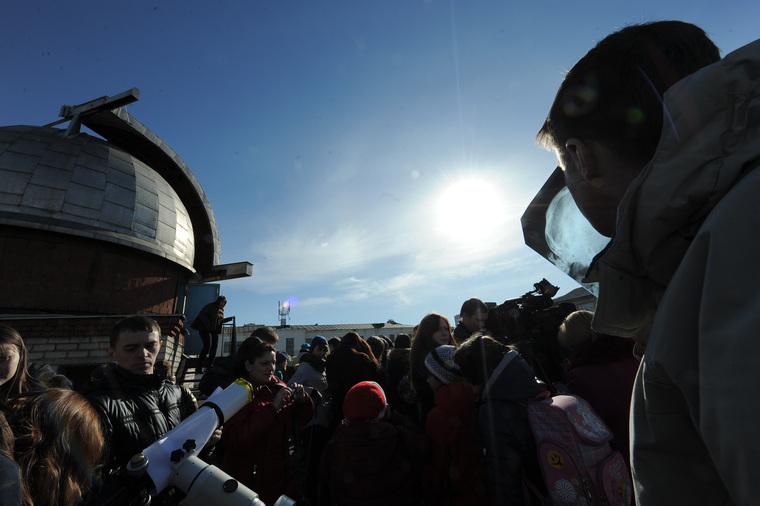 Солнечное затмение. Планетарий. Челябинск., солнце, космос, планетарий, затмение, солнечное затмение, телескоп, звезды