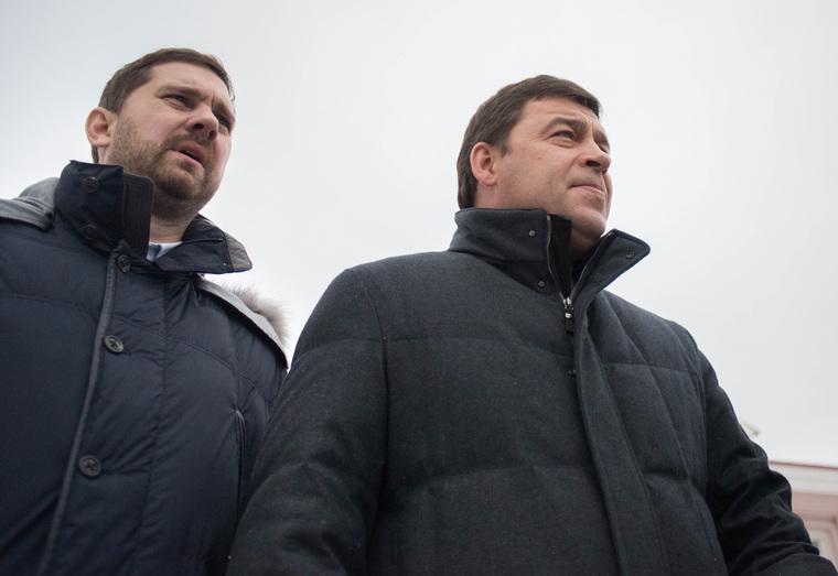 Рабочая поездка губернатора СО в Туринск, куйвашев евгений, баринов игорь