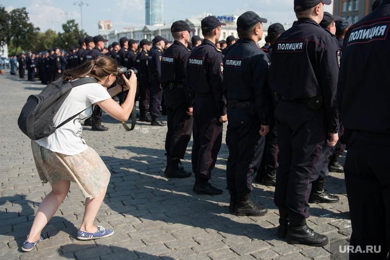 Полиция на Площади 1905 года. Екатеринбург, фотограф, закон о сми