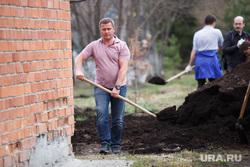 Субботник в госпитале ветеранов войн. Екатеринбург, грипас валентин