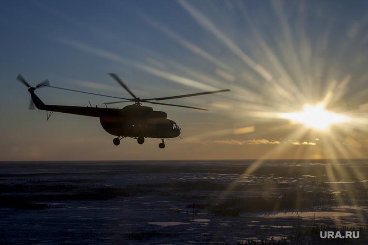ЯНАО. Клипарт, вертолет, закат, ямал, янао, тундра, солнце