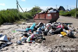Свалки мусора  Курган, частный сектор, контейнер, свалка мусора, перекресток бульвар мира доватора