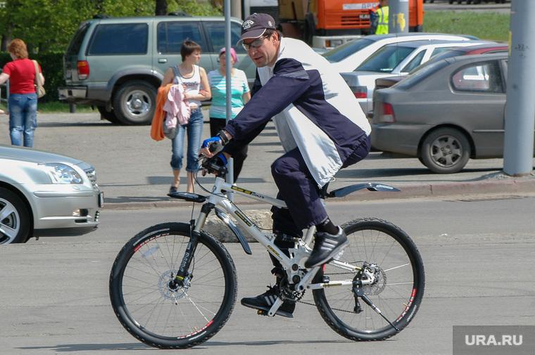 Юревич на велосипеде. Челябинск., юревич михаил, велосипедист