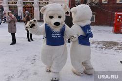 День рождения единой россии. Челябинск., единая россия, белый медведь