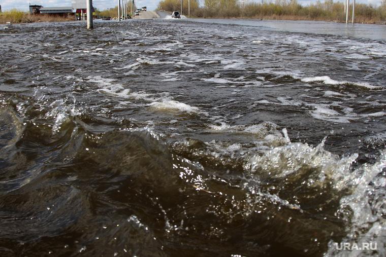 Паводок шоссе Тюнина Курган, волна, паводок2016