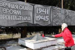 Встреча ветеранов труда на заводе Курганприбор.Курган, памятник, возложение цветов, ветеран труда, колбина нина