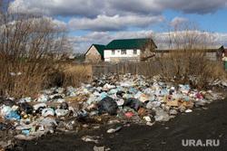 Забитые ливневые каналыПоселок Восточный Курган, свалка мусора, поселок восточный