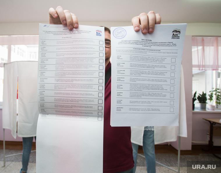 Праймериз Единой России. Сургут, праймериз, бюллетени, избирательный участок, голосование