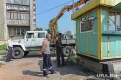 Снос парковок Челябинск, демонтаж, снос будки парковки