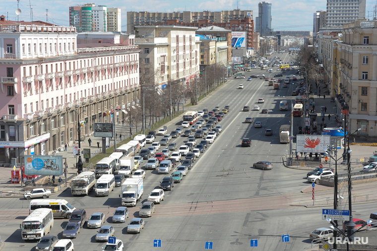Челябинск сверху, город челябинск, проспект ленина