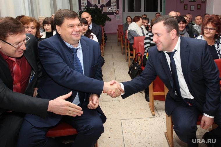 Выборы главы Половинского района Курганская обл, шумков вадим, саблин владимир, поздравление, хачатурян армэн
