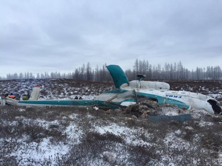 Крушение вертолета Ми-8 на Ямале