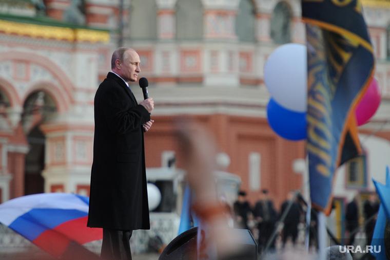Митинг-концерт к годовщине присоединения Крыма. Москва, путин владимир