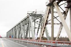 Открытие надымского моста: Кобылкин, Комарова, Якушев, Владимиров, Холманских и Маслов, мост, надым, жд