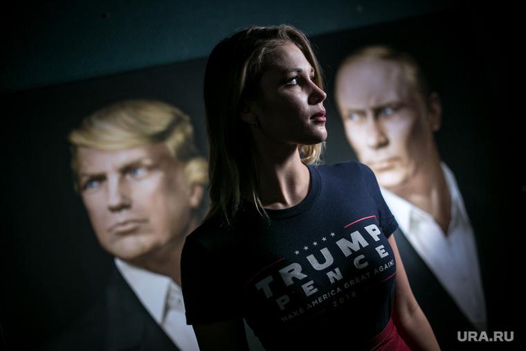 Трамп-пати в баре Union Jack. Москва, портрет, портрет путина, катасонова мария, портрет трамп дональд