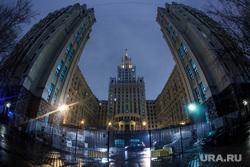 Москва, разное., высотка, вечерняя москва