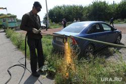 Снос парковок Челябинск, парковка, сварщик