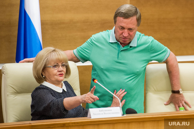 Пресс-конференция Людмилы Бабушкиной в ЗакСО. Екатеринбург, бабушкина людмила, никитин владимир