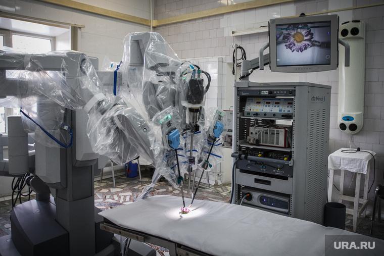 Евгений Куйвашев посетил ОКБ №1. Екатеринбург, операционная, робот-хирург, аппарат да винчи, медицинская техника, медицинское оборудование