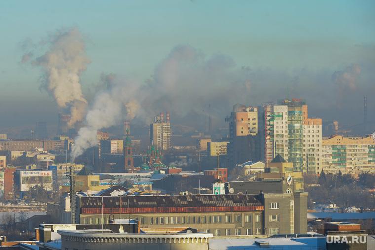 Смог над городом. Неблагоприятная экологическая обстановка. Челябинск, смог, неблагоприятные метеоусловия, челябинск, экология