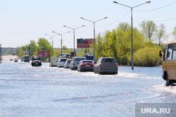 Шоссе Тюнина паводокКурган, паводок2016, шоссе затоплено