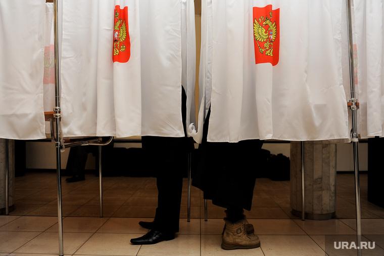 Выборы. Избиратели. Челябинск., кабинки для голосования, кабинки, выборы, герб россии, избиратели