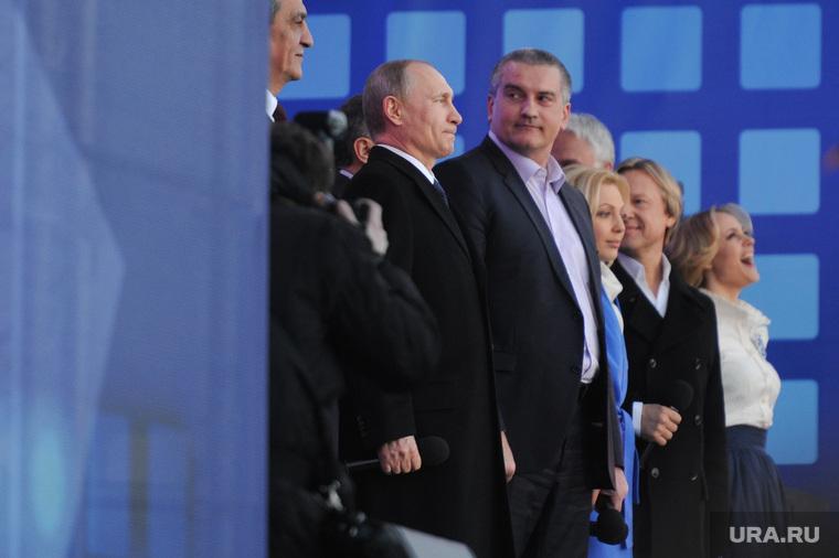 Митинг-концерт к годовщине присоединения Крыма. Москва, аксенов сергей
