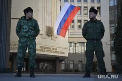 Крым. День перед референдумом., крым, российский флаг