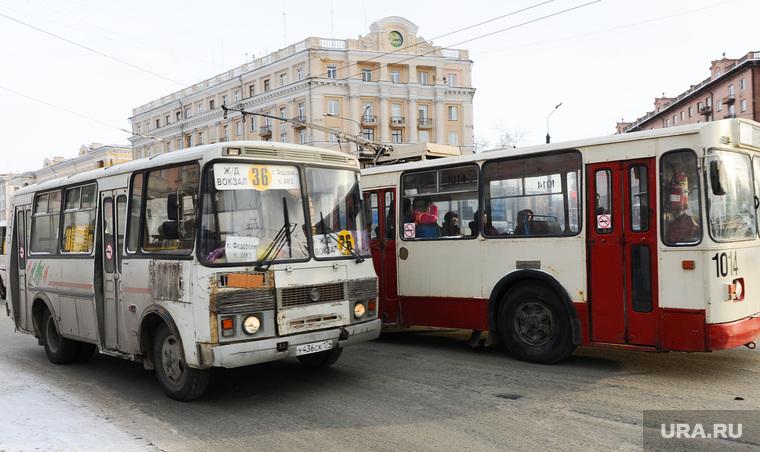Маршрутки. Челябинск., маршрутка, троллейбус, общественный транспорт