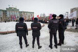 Митинг КПРФ и общественной организации Совесть против коррупции. Сургут, кпрф, митинг, полиция, совесть