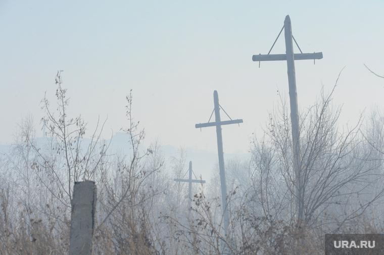 Коркинский уголный разрез. Пожары в карьере. Коркино. Челябинская область, дым, экология, столбы