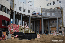 Строительная площадка перинатального центра. Сургут, роддом, стройка, перинатальный центр