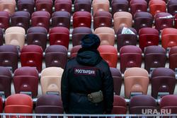 День народного единства. Москва, полицейский, стадион, трибуны, пустые трибуны, росгвардия