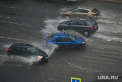 Ливень в Челябинске, погода, дождь, авто, дорога, ливень, климат