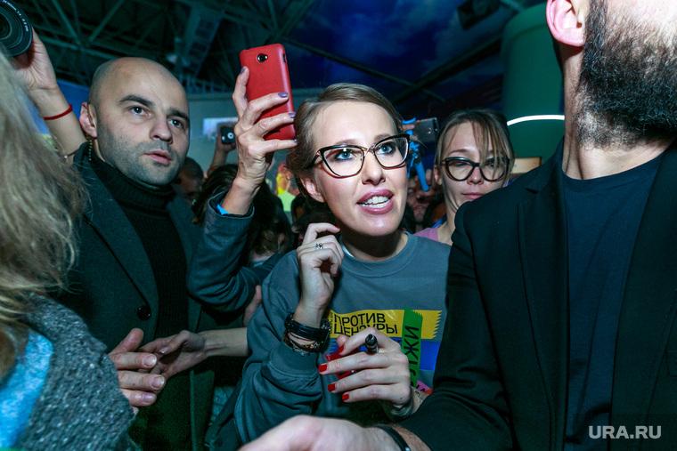 Встреча Ксении Собчак со своими избирателями и волонтерами своего штаба. Москва, собчак ксения