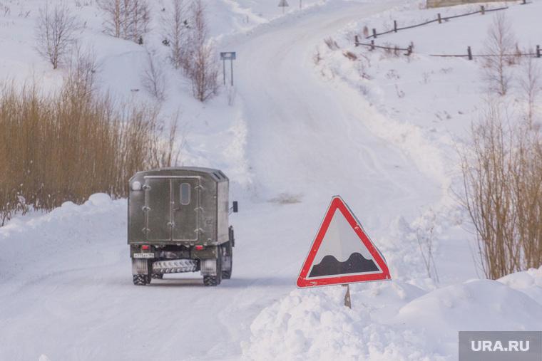 Деревня Ярки, зимник. Ханты-Мансийский район., дорога, зимник
