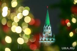 Предновогодняя Москва, елка, вечерний город, кремль, новый год, иллюминация